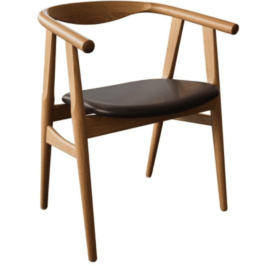 525 Wegner Bøg sæbe læder sæde spisestuestol