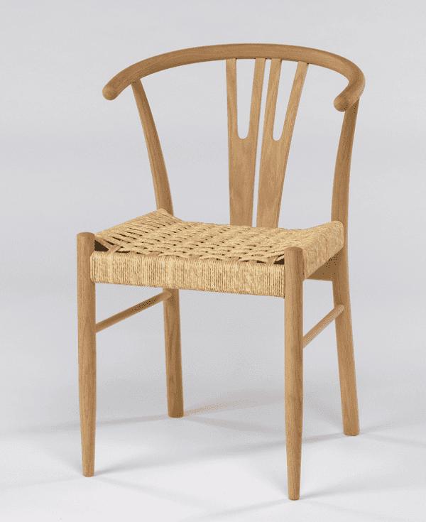 Pavega stol med fletsæde